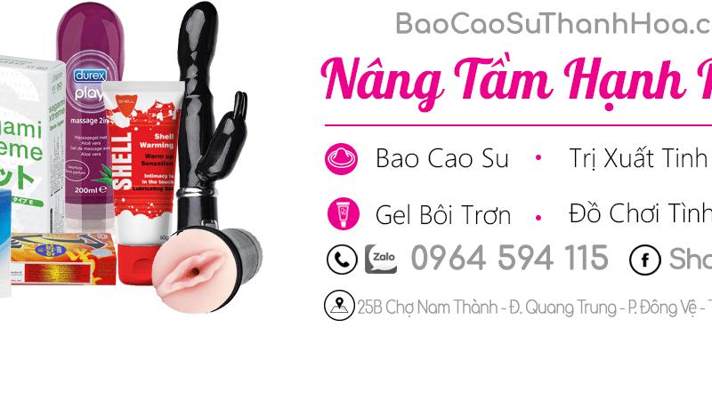 Cửa hàng cung cấp đồ chơi tình dục chính hãng tại Thanh Hóa